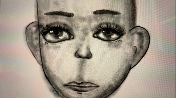 Gengivelse af tegning af barneansigt